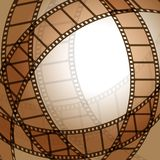 Film strip. Abstract background with a film strip Royalty Free Stock Images