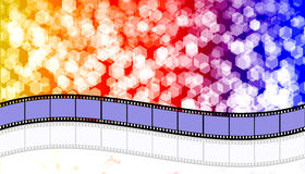 Film strip. Abstract rainbow background with film Royalty Free Stock Photo