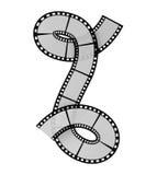 Film strip alphabet letter. Illustration of the film strip alphabet letter Stock Images