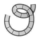 Film strip alphabet letter. Illustration of the film strip alphabet letter Royalty Free Stock Photos