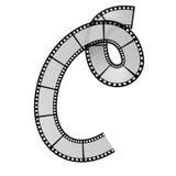 Film strip alphabet letter. Illustration of the film strip alphabet letter Royalty Free Stock Photo