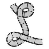Film strip alphabet letter. Illustration of the film strip alphabet letter Stock Image