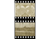 Film Strip/Antique/Travel Royalty Free Stock Photo