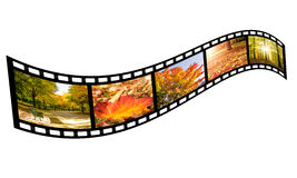 Film strip with autumn images Stock Image
