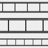 Film strip back. Isolated. Retro vector. Illustration Royalty Free Stock Photos