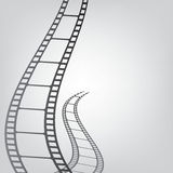 Film strip background_2. Film strip against a gray background Royalty Free Stock Image