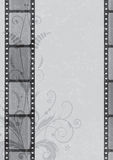 Film strip background. Vector film strip background in grayscale colors (EPS 10 Stock Photography