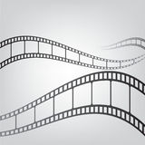 Film strip background. Film strip against a gray background Stock Photos