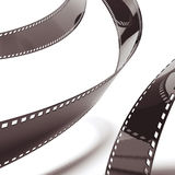 Film strip background. Isolated on a white background Stock Photos