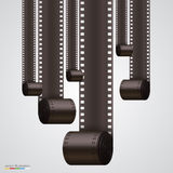 Film Strip background. Art banner. Vector illustration Royalty Free Stock Photography