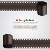 Film Strip background. Art banner. Vector illustration Stock Photos