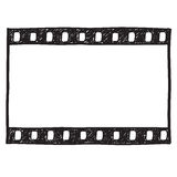 Film strip background. Empty film frame sketch style , vector Stock Photography