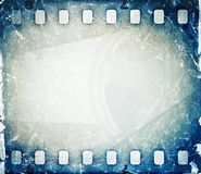 Film strip background. Grunge blue film strip background Royalty Free Stock Images