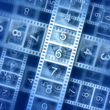 Film strip background. Hi-resolution illustration. Movie theme Stock Photos