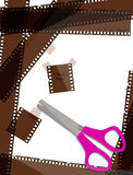 Film strip background. Vector illustration Royalty Free Stock Image