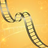 Film Strip Background. Vector illustration of film strip for cinema designing Royalty Free Stock Photos