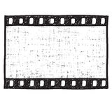 Film strip background. Film strip vintage background. Empty film frame sketch style , vector Royalty Free Stock Image