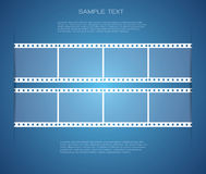 Film strip backgrounds. And space for message Royalty Free Stock Photography