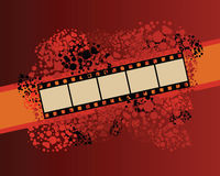 Film strip banner on spotted pattern. Movie and entertainment concept. Digitally generated vector illustration vector illustration