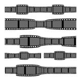 Film strip banners. On white background. Horizontal orientation Royalty Free Stock Photo