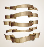 Film strip banners. Brown vector Royalty Free Stock Images