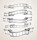 Film strip banners. Black and white- vector Royalty Free Stock Photography