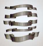 Film strip banners. Vector illustration Royalty Free Stock Photos