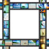 Film strip with beautiful holiday pictures. Of tropical beach Royalty Free Stock Image