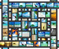 Film strip with beautiful holiday pictures. Of tropical beach Stock Images