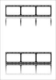 Film strip black stock image