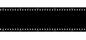 Film strip black blank isolated on white Royalty Free Stock Images
