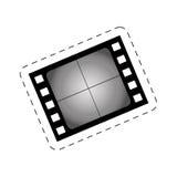 Film strip blank cinema movie image. Illustration eps 10 Stock Photo