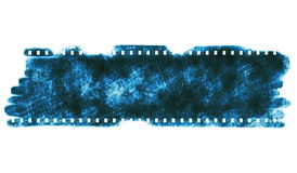 Film strip blank old grunge frame Royalty Free Stock Photography