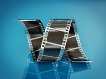 Film strip. On a blue background Stock Image