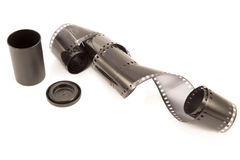 Film strip with the box Stock Image