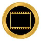 Film strip button. Film strip button on white background. Vector illustration Stock Photos