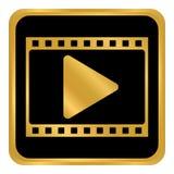 Film strip button. Film strip button on white background. Vector illustration Royalty Free Stock Photo