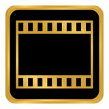 Film strip button. Film strip button on white background. Vector illustration Stock Image