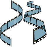 Film strip C. Detailed vector illustration Stock Image