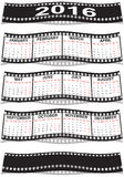 Film strip calendar 2016. Graphic illustration of the Film strip calendar 2016 Stock Photo