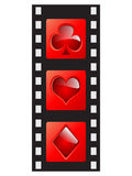 Film strip - casino elements. Film strip with casino elements vector illustration Stock Photography