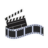 Film strip cinema movie design. Film strip clapboard cinema movie entertainment show icon. Flat and Isolated design. Vector illustration Royalty Free Stock Image