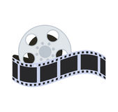 Film strip cinema movie design. Film strip reel cinema movie entertainment show icon. Flat and Isolated design. Vector illustration Royalty Free Stock Photography