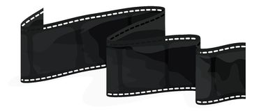 Film Strip with clipping path Royalty Free Stock Image