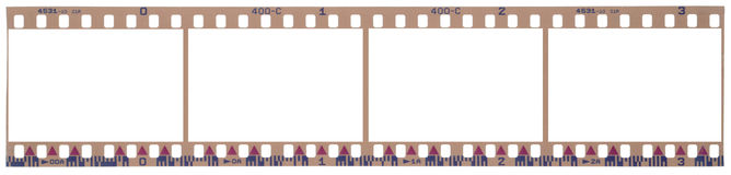 Film strip with clipping paths. Scanned film strip with clipping paths Royalty Free Stock Photo