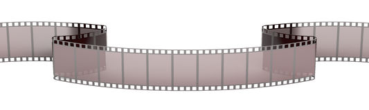 Film Strip closeup, 3D rendering. On white background Royalty Free Stock Photos