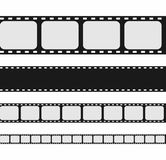 Film strip collection. Set of blank movie strip template. Vector Royalty Free Stock Photos