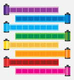 Film strip color  Royalty Free Stock Images