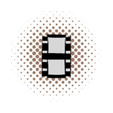 Film strip comics icon. On a white background Royalty Free Stock Photos