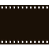 Film Strip Complete. Black on white background Royalty Free Stock Photo